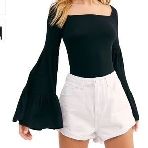 Free People Babetown Bell Sleeve Top NWT Size S
